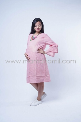 Baju Hamil Dress Hamil Kotak Layer Nagita Dress - DRO  851
