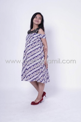 Baju Hamil Dress Hamil Menyusui Batik Brokat Naresha Batik Dress - DRO 154