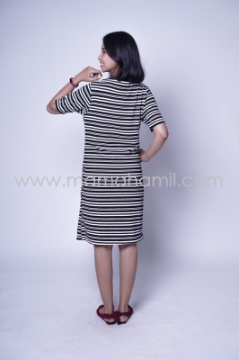 Baju Hamil Dress Hamil Menyusui Simple Modis Lorek Ariana Dress - DRO 882