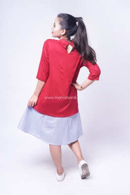 Dress Hamil Menyusui Korean Look - DRO 902
