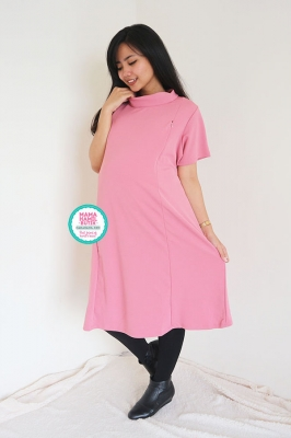 Dress Hamil Menyusui Turtle Neck Korean Style - DRO 823