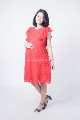 Dress Ibu Hamil Menyusui Korean Style 3 Layer Disya Dress - DRO 941
