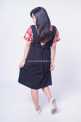 Dress Ibu Hamil Menyusui Casual Lemonskin Modern Vendiana Dress - DRO 946