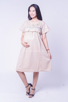 Dress Ibu Hamil Menyusui Geber Bordir Bunga Cantik Aqilla Dress - DRO 952