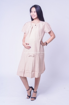 Dress Ibu Hamil Pita Lipit Anindira Dress - DRO 953
