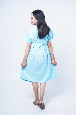 Mama Hamil Dress Ibu Hamil Menyusui Bordir Bunga Renda Putih Modis Cantik Pauline Dress - DRO 978