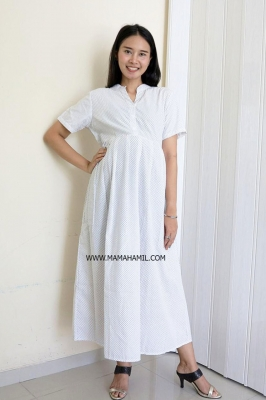 Dress Hamil dan Menyusui Libby Dress - DRO 1005 Putih