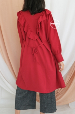 Olin Dress Polos Long Rample Tunic Modis - DRO 1015 Merah