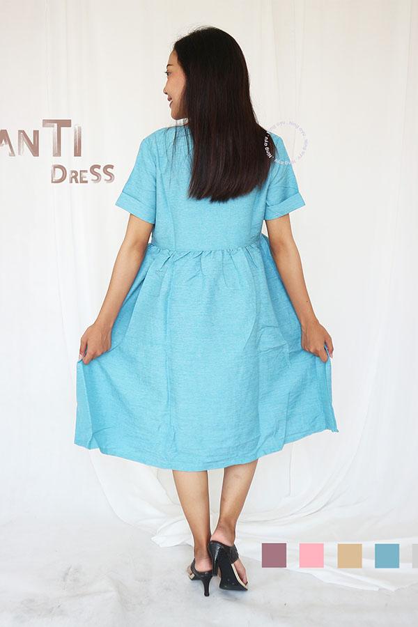 Shanti Dress Kerja Casual Kekinian Remaja Korean Style