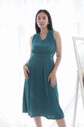 MAMA HAMIL BUTIK Kimmy Midi Dress Baju Modis Wanita Murah Polos Simple Outfit Pesta   NADR 10 15  large