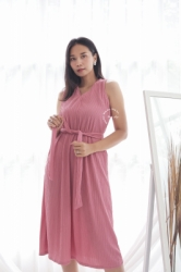 MAMA HAMIL BUTIK Kimmy Midi Dress Baju Modis Wanita Murah Polos Simple Outfit Pesta   NADR 10 2  large