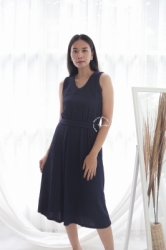 MAMA HAMIL BUTIK Kimmy Midi Dress Baju Modis Wanita Murah Polos Simple Outfit Pesta   NADR 10 25  large